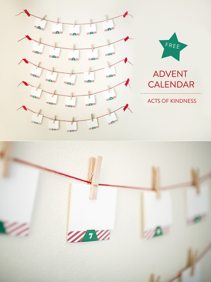 This FREE random acts of kindness advent calendar is a cute holiday decoration that will encourage your family to be kind every day.