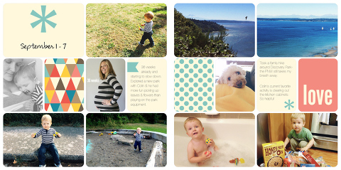 simple project life pages