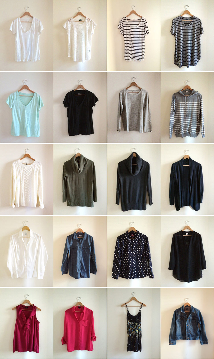 great idea:  a minimalist wardrobe of only 35 pieces!