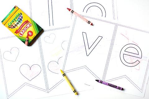free valentines banner printable