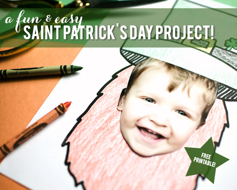 So cute! Turn yourself into a leprechaun with this free St Patricks Day printable!