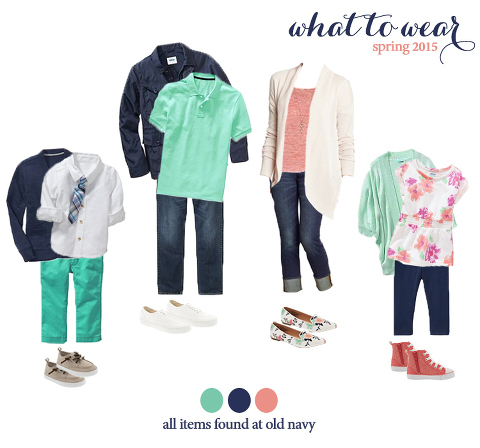 what to wear for family photos!  very cute spring looks!