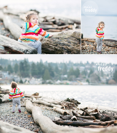 Love this beach photo session by Miss Freddy, West Seattle kids photographer.