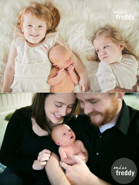 Haha!  This sibling photo is hilarious!  Taken by Miss Freddy, a newborn photographer in Burien, WA.