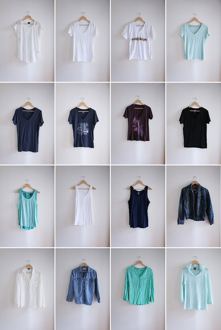 great idea:  a summer minimalist wardrobe of only 35 pieces!