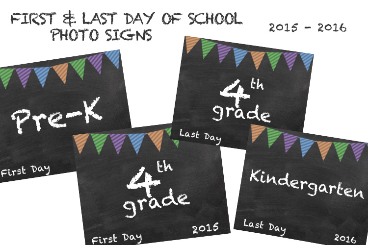 free first day of school photo sign from miss freddy