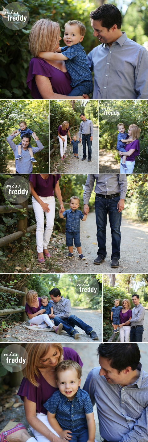 Cute poses for a small family... by Miss Freddy, West Seattle kids photographer.