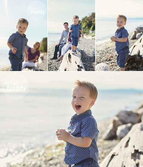 Cute poses for an active toddler... by Miss Freddy, West Seattle kids photographer.