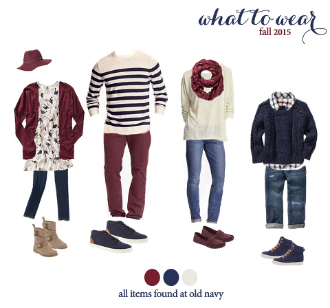 what to wear for fall family photos! very cute fall looks!