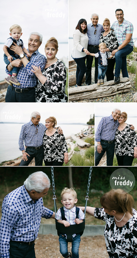 A photo shoot with Seattle portrait photographer, Miss Freddy, is a fun way to commemorate a family visit. A special gift to enjoy after they return home!