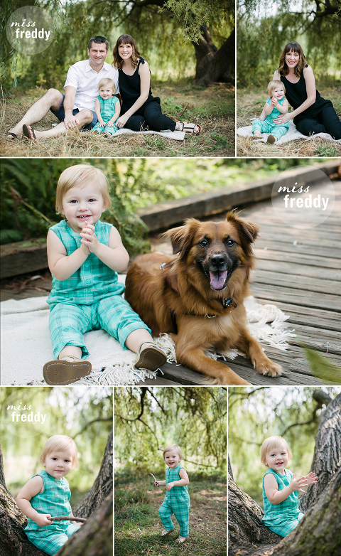 Cute poses for extended family photos.  By Miss Freddy, Seattle extended family photographer.
