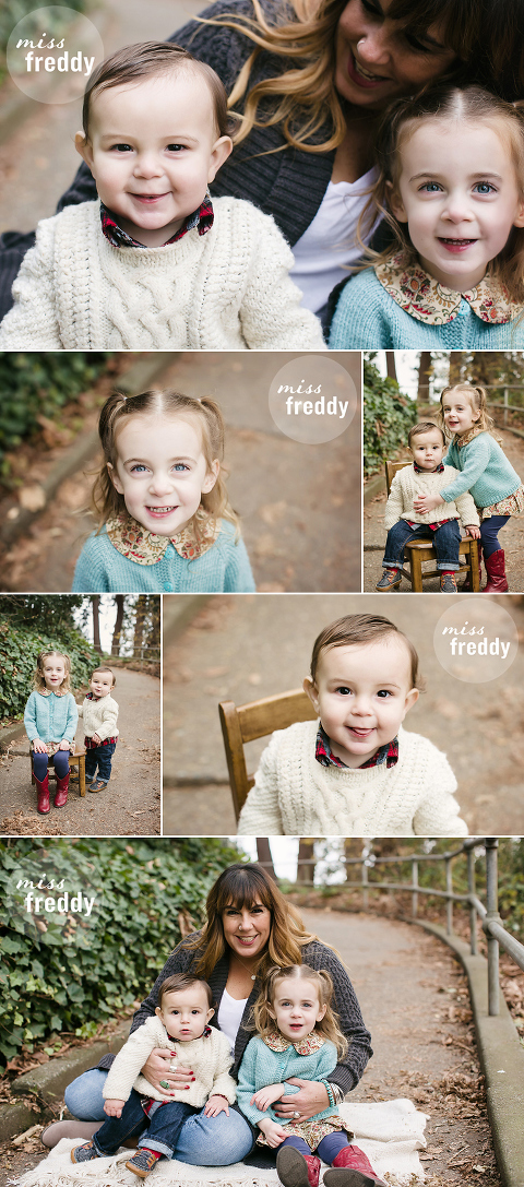 A cute family beach photo session by Miss Freddy, West Seattle kids photographer.