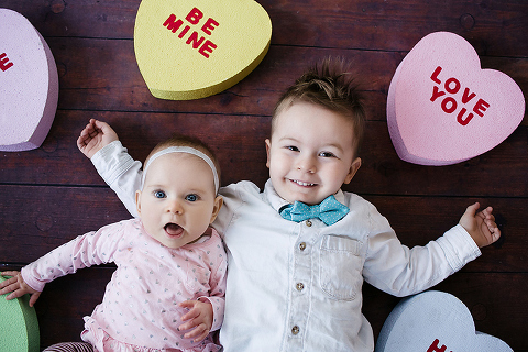 Adorable photos from a Valentines Photo Booth by Miss Freddy, Seattle Kids Photographer.