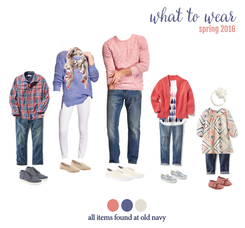 what to wear for spring family photos! very cute outfits for the entire family.