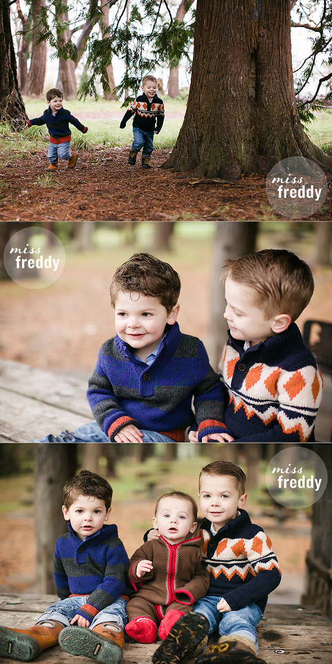 A cute winter photo session by Miss Freddy, a family photographer in West Seattle.
