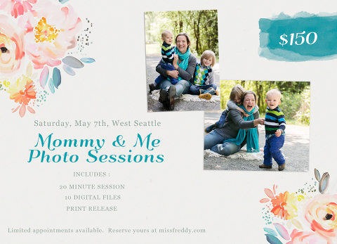 The PERFECT Mothers Day gift... photos documenting how much your children LOVE YOU! Book a Seattle Mommy and Me photo session with Miss Freddy!