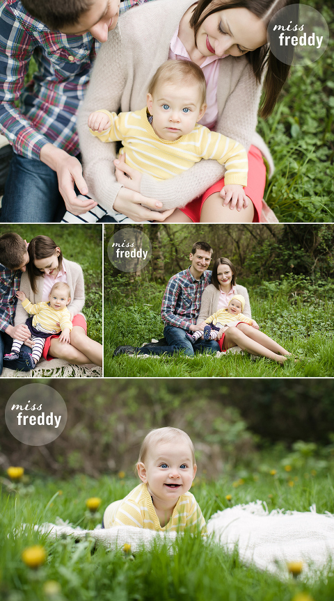 Miss Freddy, Seattle baby photographer, offers photo sessions for fun loving families!  Check out this sample session from the Seattle Arboretum.