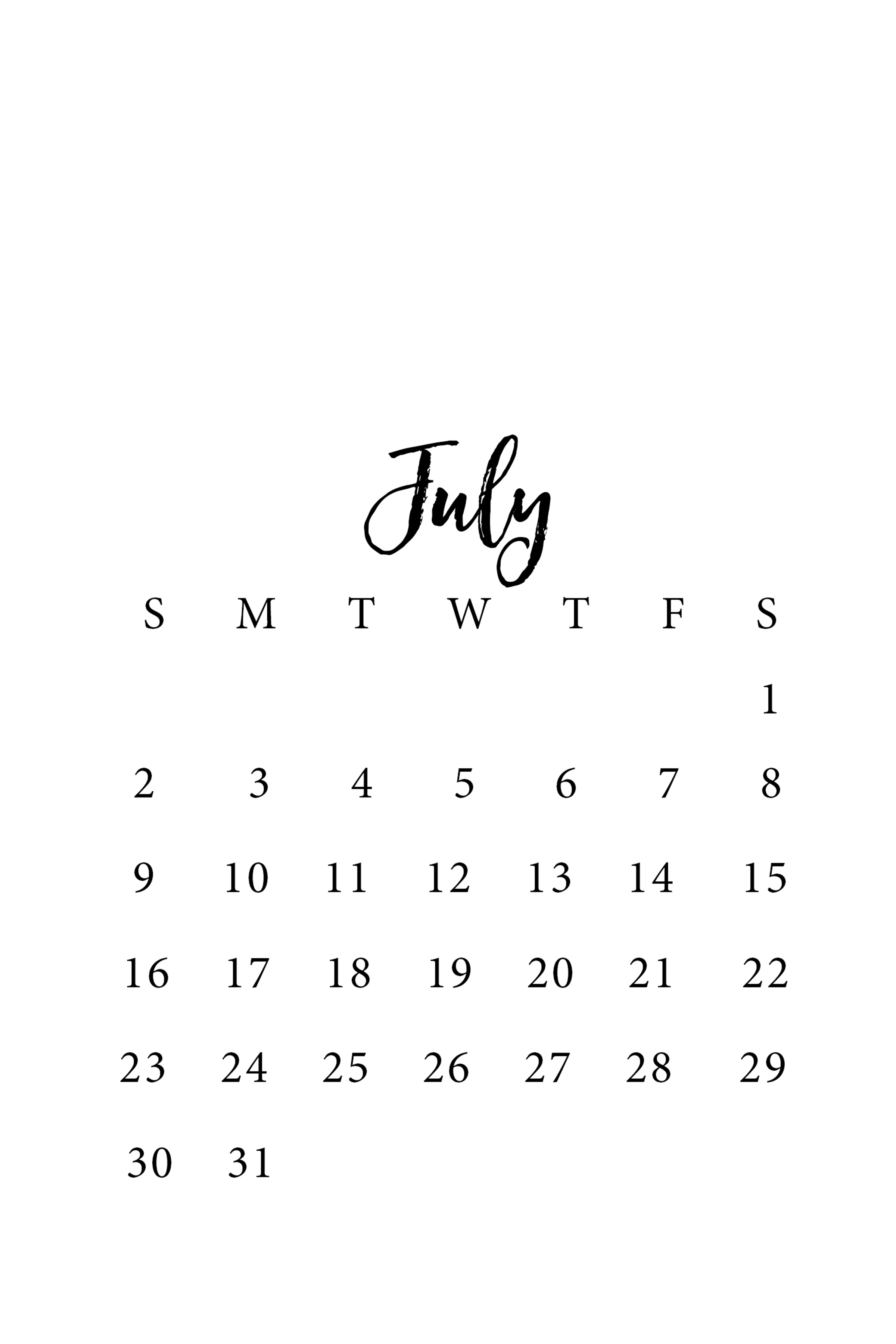 Save each calendar template onto your phone. (On an iPhone, click the ...