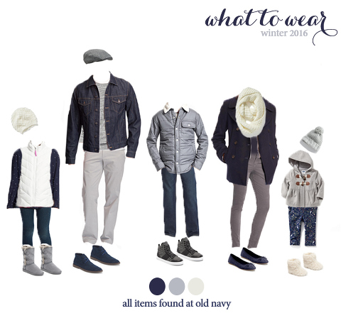 what to wear for winter family photos! very cute looks!