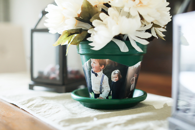 Flowers are a great gift, for sure, but if you make your own photo flower pot, then you have a gift that lives on long after the flowers are gone!