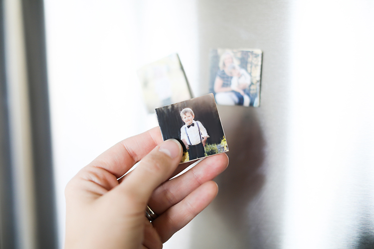 Check out this quick and easy DIY on how to make your own photo magnets!  A simple, fun, personalized gift for anyone on your Christmas list!