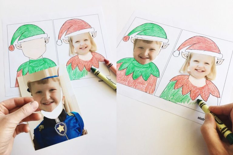 Add a little Christmas spirit to your home with this Elf Yourself fun & easy Christmas photo craft for all ages (adults too)! Perfect for decorating your fridge, office cubicle, or turn it into a gift tag or holiday card!