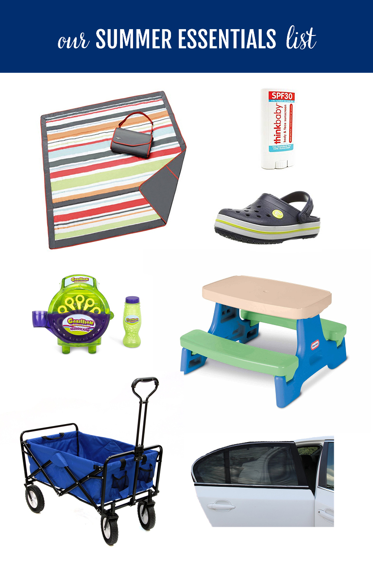 Summer is here!  I put together a short list of summer essentials that we use nearly everyday because they make summer (with kids) better!