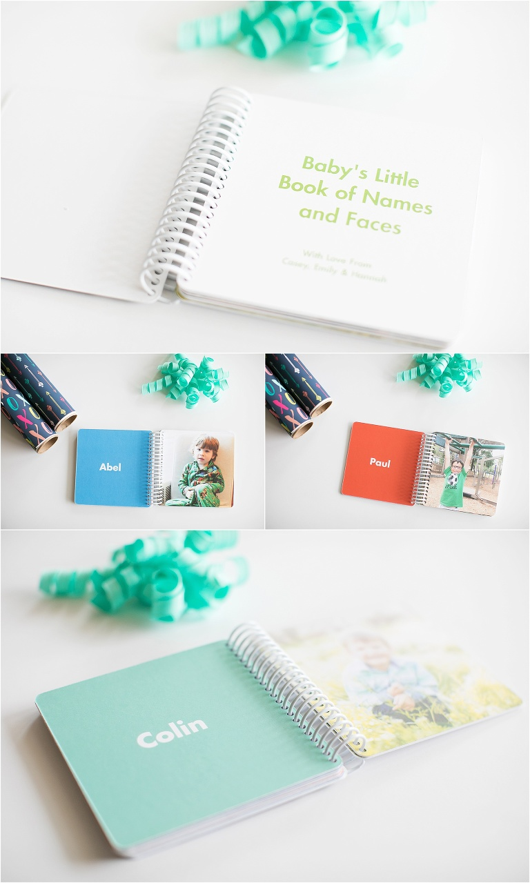 Using photos in a baby shower gift is a fun way to add a memorable, personal touch.  Check out these very simple ways to personalize baby shower gifts.