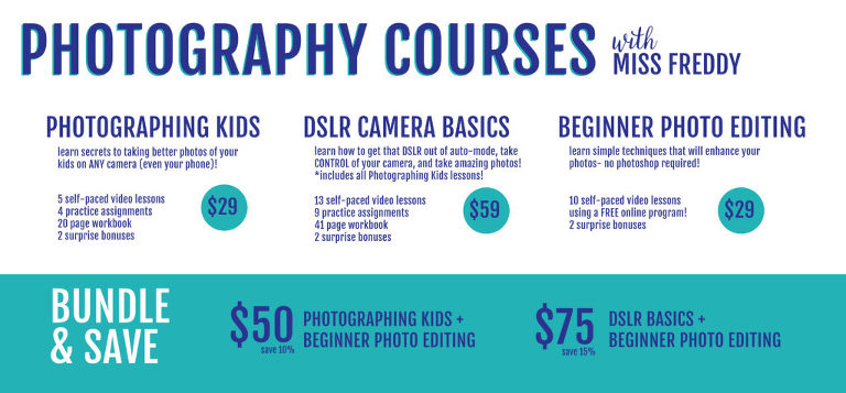 online photography classes + 5 free photo tips! - miss freddy