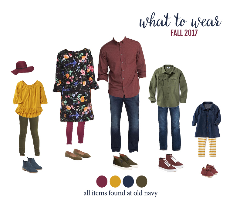What to wear for fall family photos! Grab a Pumpkin Spice latte and check out these fun looks for the whole family. Perfect for photos with Miss Freddy!