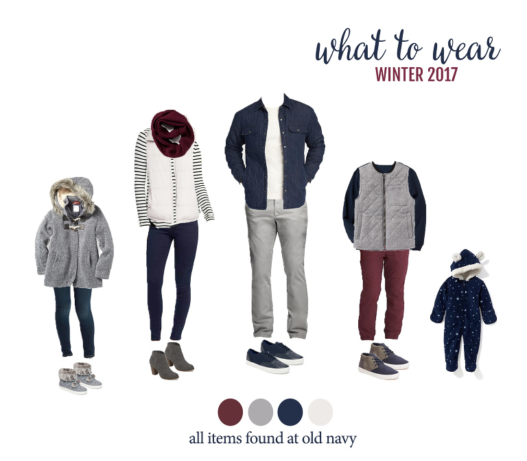 What to wear for winter family photos! Adorable & affordable outfits for the entire family. Perfect for your photos with Denver photographer, Miss Freddy!