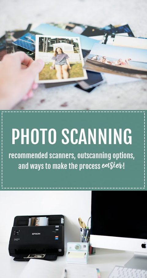 Tips for scanning physical photos from a Professional Photo Organizer. Recommended scanners, outsourcing options, and ways to make the the process easier (learned from scanning tens of thousands of photos in the last 2 years).