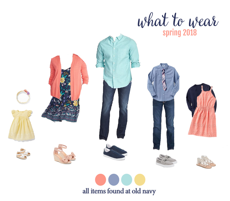 What to wear for spring family photos... adorable and affordable looks for the entire family! Perfect for your spring photo session with Miss Freddy.