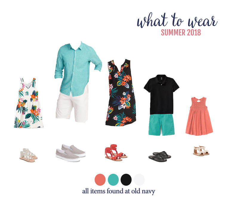 What to wear for summer family photos... check out these cute and affordable looks for the entire family! Perfect for summer photos with Miss Freddy.