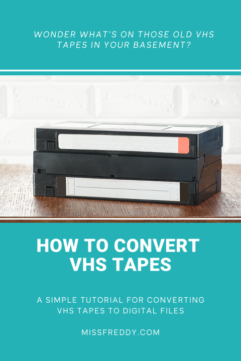 Want to see what's hiding on those old VHS tapes in the basement?  Check out this post with the simple steps for how to convert VHS tapes to digital!