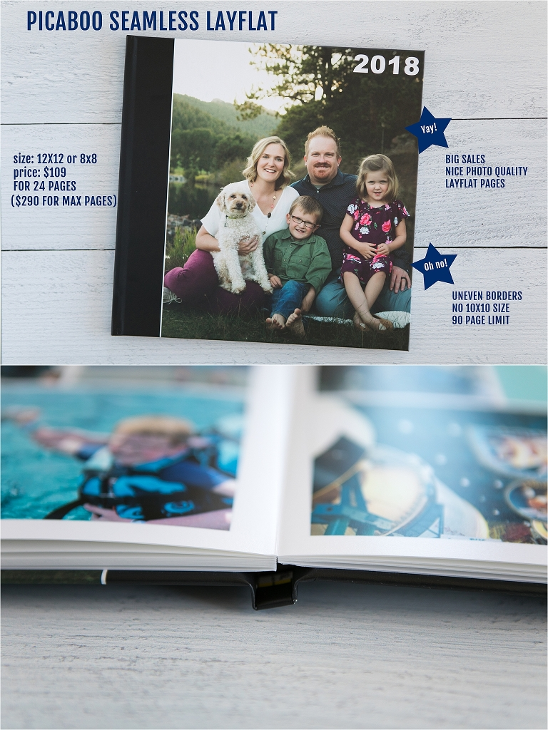 A photo book company comparison of six different premium photo books by Professional Photo Organizer, Miss Freddy.